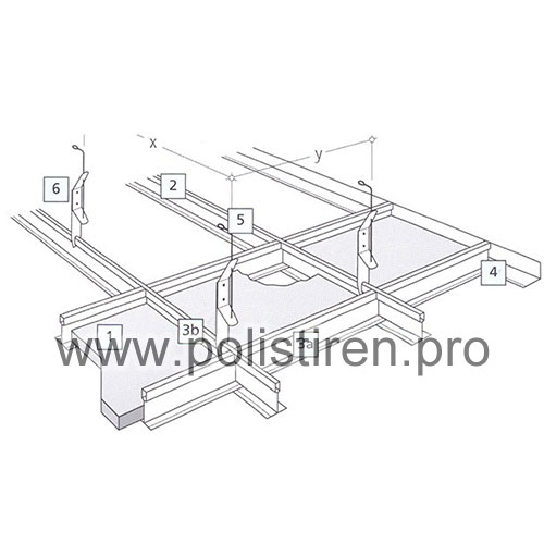 Profil perimetral 24mm x 3000mm